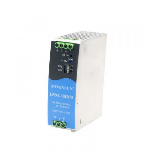 Mornsun LIF240-10B12R2 Din-Rail AC/DC power supply 192watt 12Vdc