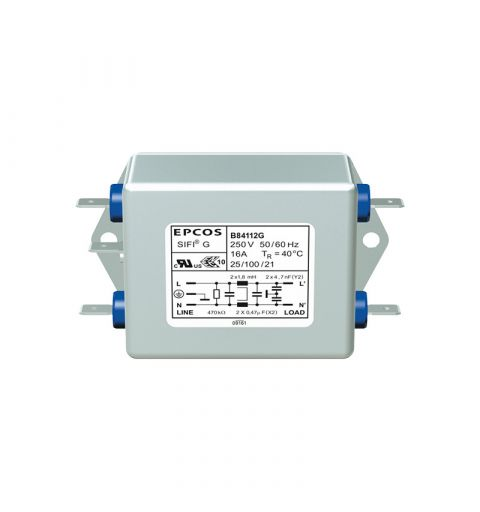 TDK Epcos B84112G0000B060 EMC SIFI-G 6A 250V Line Filter